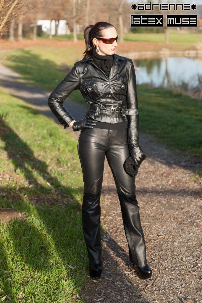 Adrienne in leather