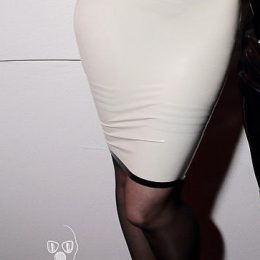 White latex skirt